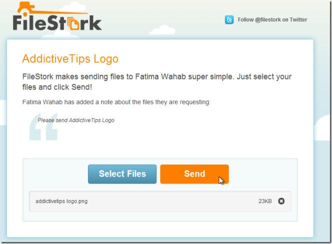 File request  FileStork