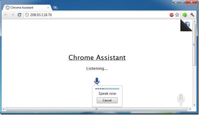 Chrome assistant speak
