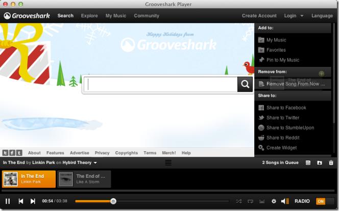 Grooveshark Player