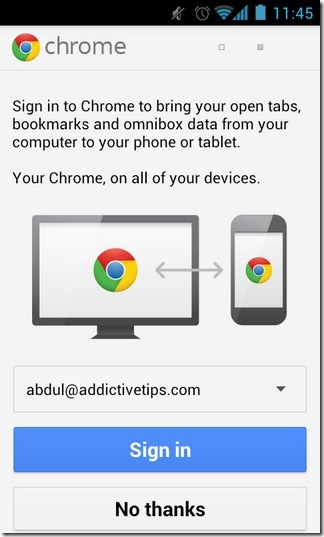 Chrome-for-Android-Beta-Sign-In