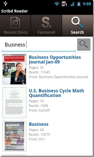 Scribd-Android-Search