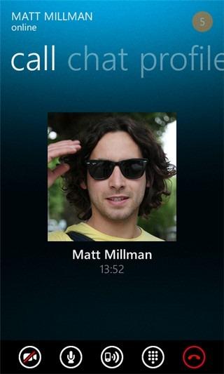Skype WP7 Call
