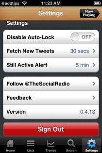 Social Radio Settings