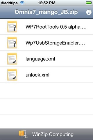ZIP File iPhone