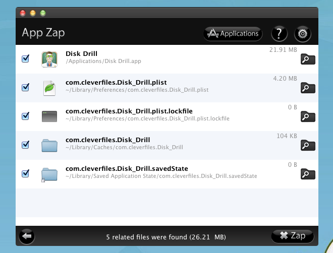 App Zap app files