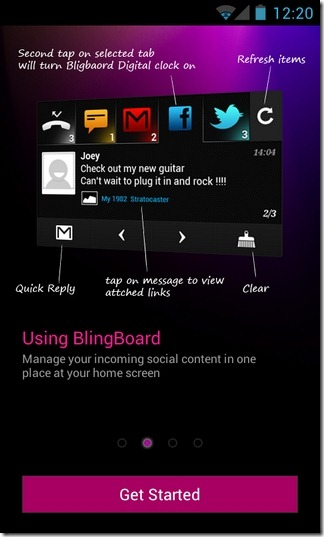 BlingBoard-Social-Widget-Android-Intro