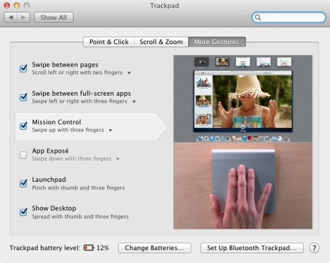 Mac Trackpad preferences