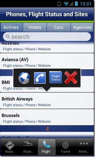 Webport-Android-Airport-Flight