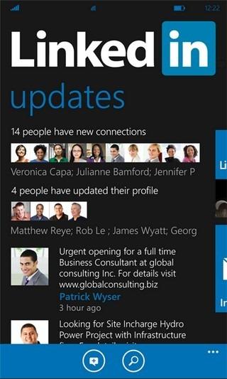 LinkedIn WP7 Updates