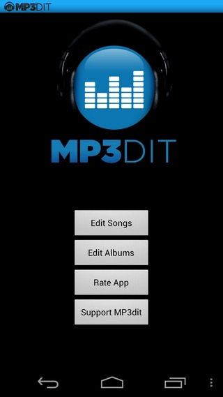 MP3dit-Android-Home