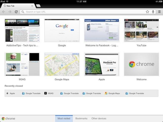 Chrome iPad