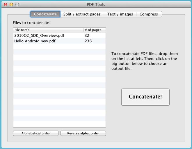 PDF Toolkit interface