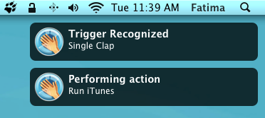 iClapper notification