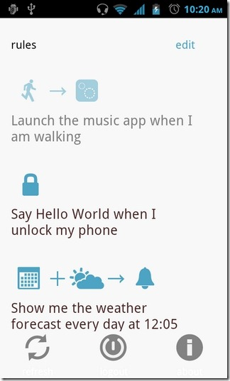 on{X}-Android-App-Home