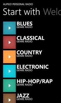 AUPEO! Radio Genres