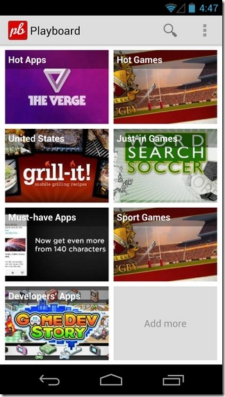 Playboard-Android-Home