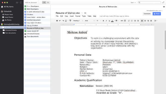 collections Google Docs