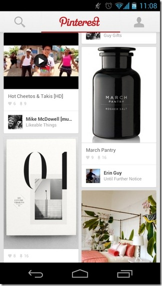 Pinterest-Android-iPad-Home