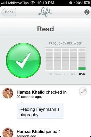 Lift iOS Habit Page