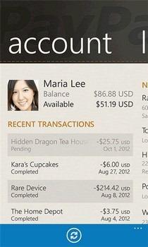 PayPal WP7 Account