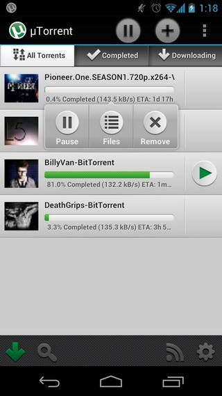 utorrent-Android-Home