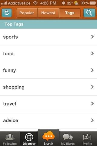 Blurtopia iOS Tags