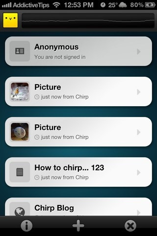 Chirp iOS Feed