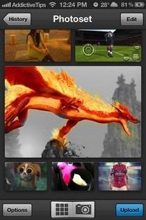 Photoset iOS Home
