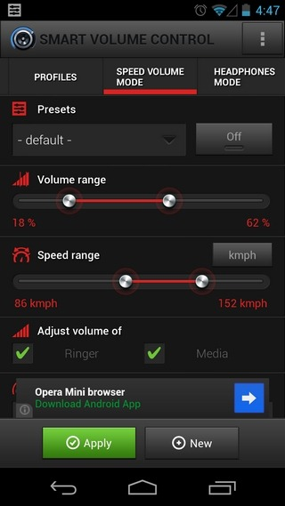 SMart-Volme-Control-Android-Speed-Mode