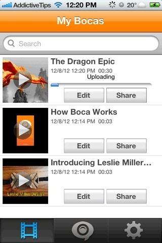 Boca Video iOS Home