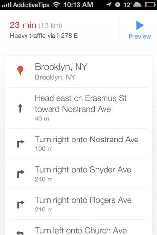 Google Maps iOS 6 Turn by Turn