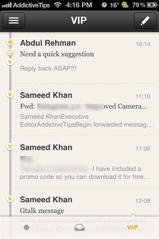 Seed Mail iOS VIP