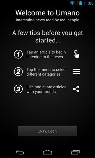 Umano-Android-Help