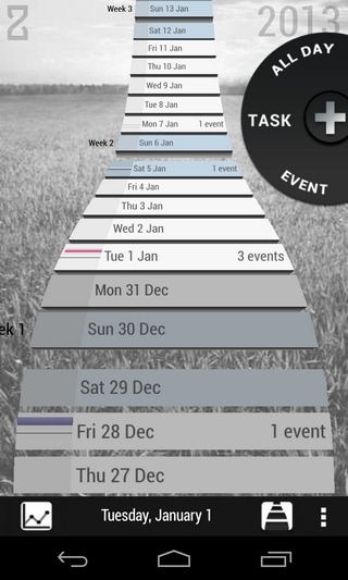 Zime-Android-Timeline