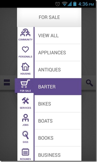 Mokriya-Craigslist-Android-iOS-Categories