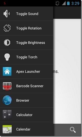 Sidebar-Android-Items