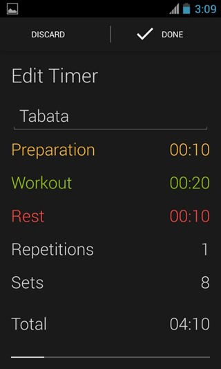 Timer from Runtastic 1