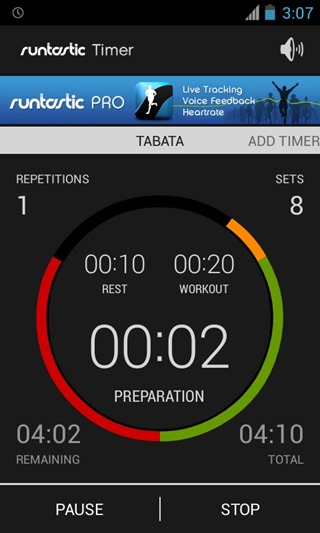 Timer from Runtastic 8