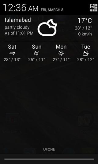 Notifiation Weather 5
