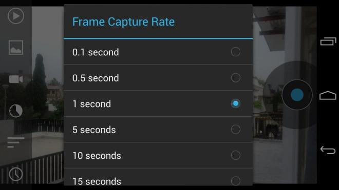 Droid Timelapse_Frame Capture Rate