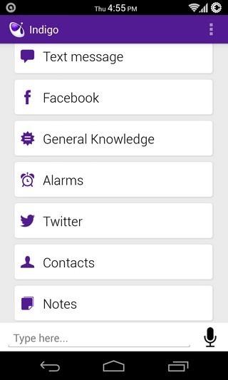 Indigo Android Home
