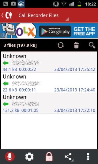 MP3 InCall Recorder  recordings