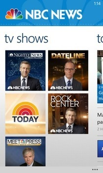 NBC News WP8 Shows