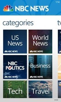 NBC News WP8 ategories