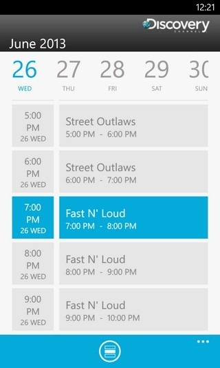 Discovery WP8 Schedule