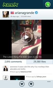 Keek WP8 Comments