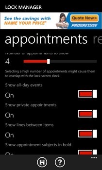 Lock Manager WP8 Appointments