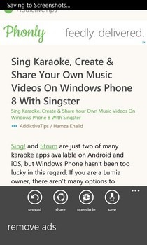 Phonly WP8 Article