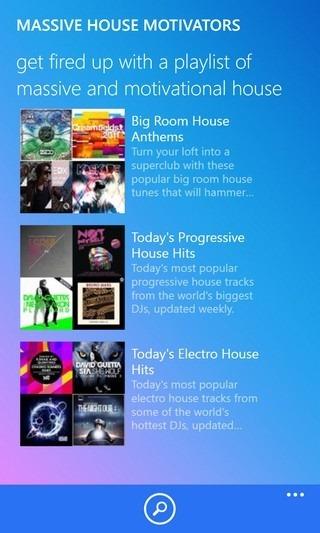 Songza WP8 Playlist