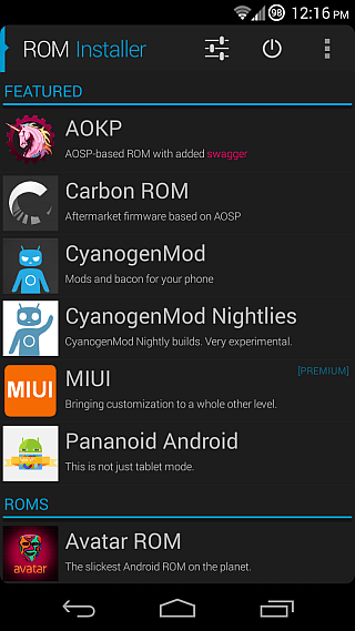 ROM Installer for Android 01a